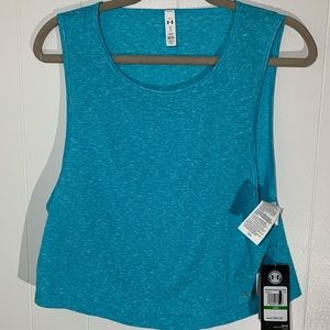 New Under Armour teal blue muscle top sz L